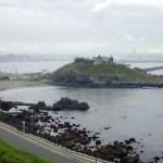 高いところから見た蕪島