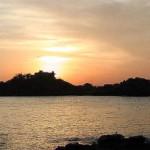蕪島の夕日